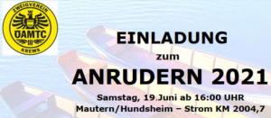 Einladung Anrudern 2021